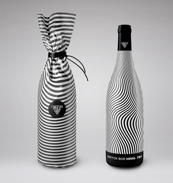 Csetvei Winery striking wine label packaging design