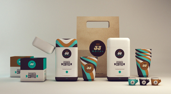 Packaging design for JJ Royal's coffee