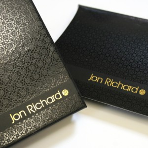 Branded Packaging. Jewellery Packaging for Jon Richard at Debenhams