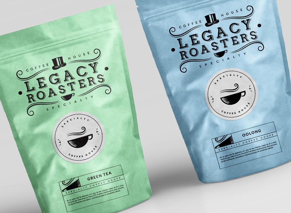 Legacy Roasters Tea Packaging