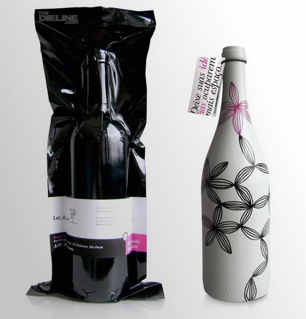 wine packaging design for 'let it grow'