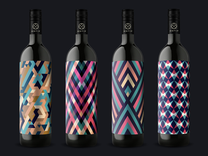 Motif Wine label packaging | Design without words.