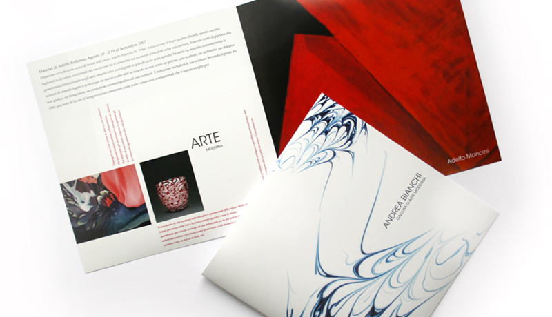 Creative Brochure Design for Andrea Bianchi Gallery