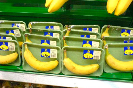 Over Packaged Banana Packaging