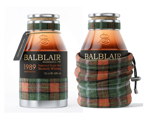 Whiskey Packaging Design. Balbliar Whiskey.