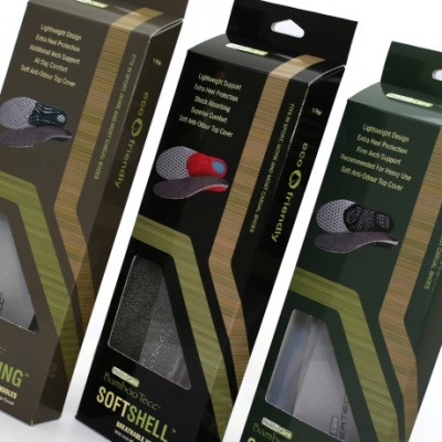 Retail packaging design for Healix foot care insoles