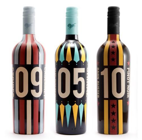 Circus | Colourful wine label design