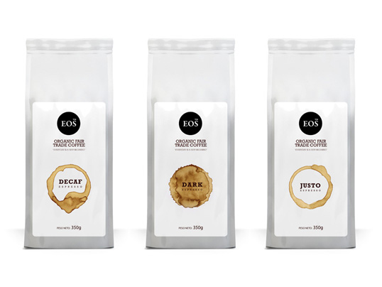 Eos coffee house packaging