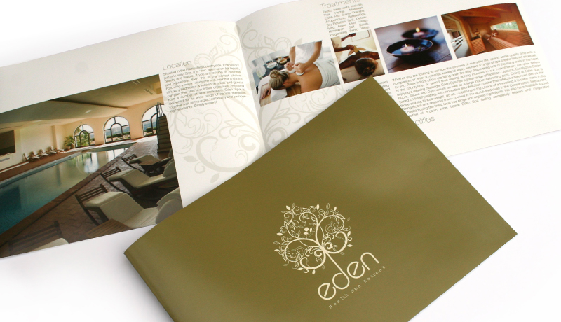 Health spa creative brochure design