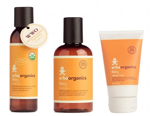 erbaorganics organic baby care products
