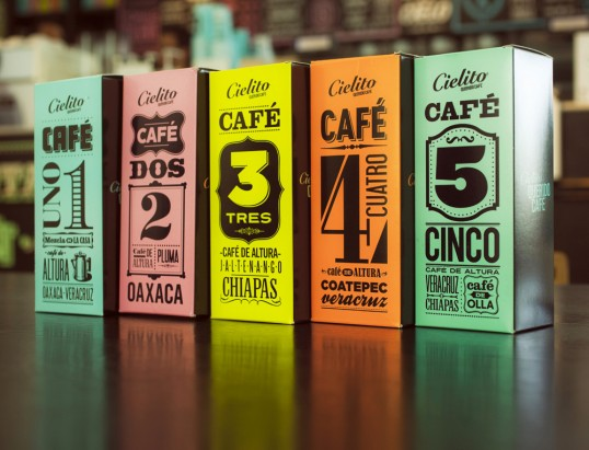 Latin American coffee house CIELITO coffee packaging