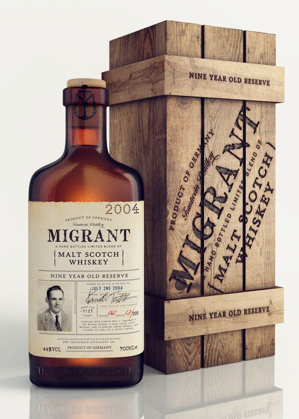 'Migrant' Whiskey Packaging Design