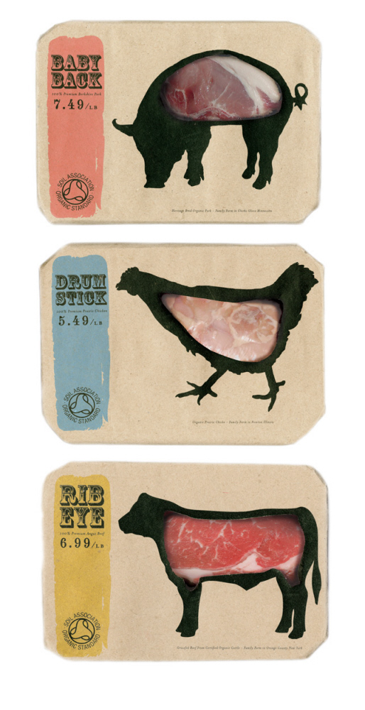 Food Packaging Created for Novel Butcher - 'to the point' food packaging design inspiration
