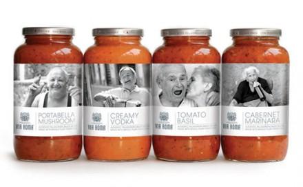Nostalgic Packaging Design for Pasta Sauce.