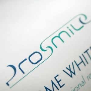 Brand logo, Branding and identity design for Prosmile+ teeth whitening products.