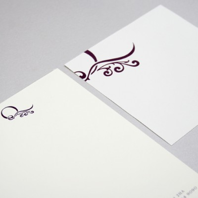 Quebec's corporate identity design shown on telephone pads and managers notepaper.