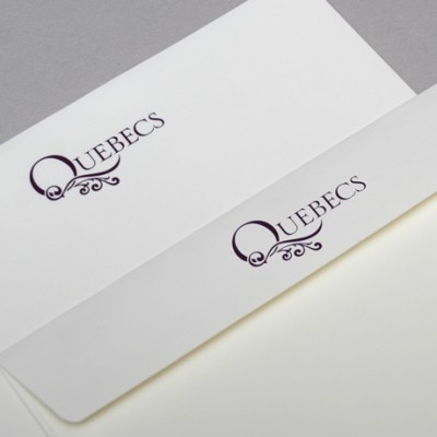 New corporate identity design on Quebec's business stationery.