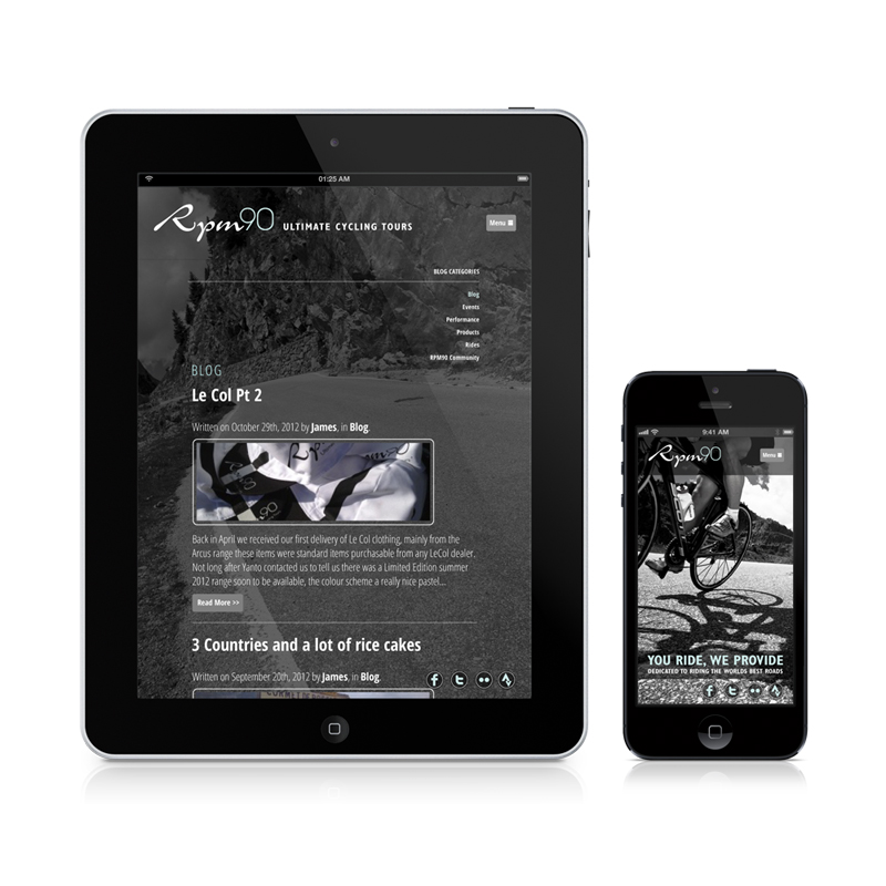 Responsive web design built to look beautiful on an iPad and iPhone