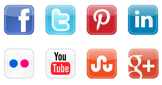 Social Media Icons for Web Design and Development