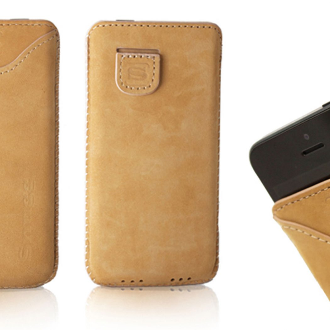 Image shows snug iPhone 5-pouch