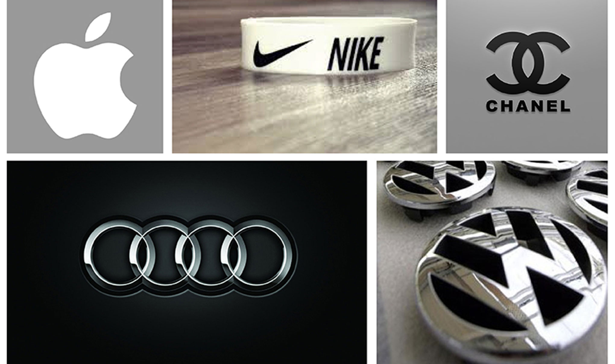 Big Brand names and their logos. Featured image for the blog 'Great Logos'