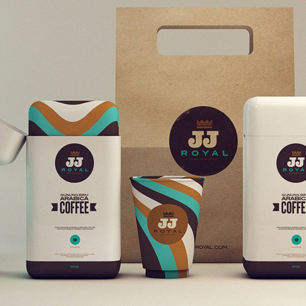 'JJ ROYAL' branding and packaging design.