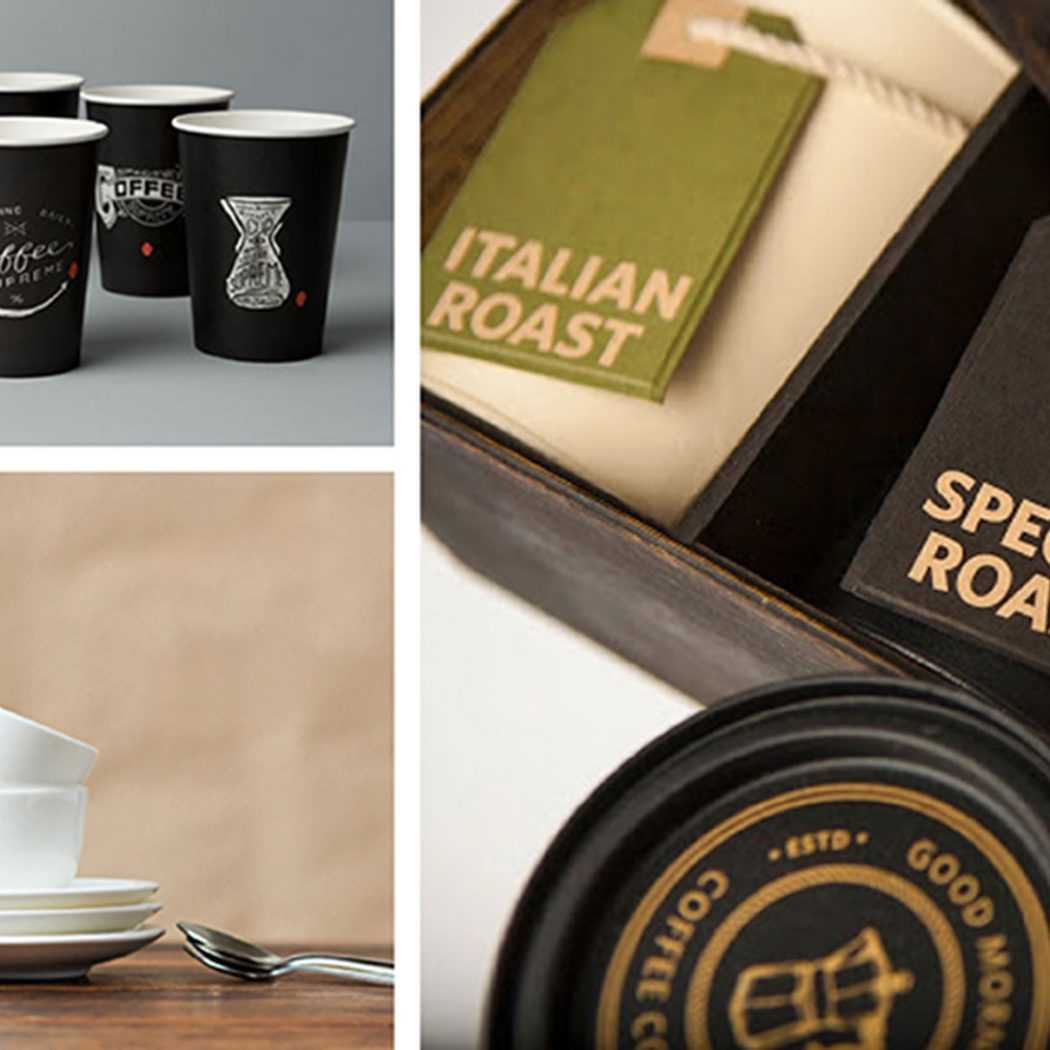Branding & packaging designs of coffee brands. Featured image for the blog 'Luxury Coffee Branding and Packaging Design'