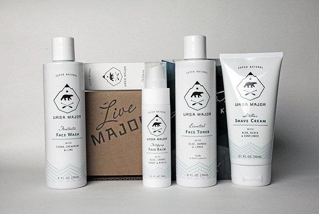 Packaging Design for Mens Grooming Range Ursa Major