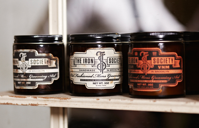 Mens Grooming 'The Iron Society' Packaging Design