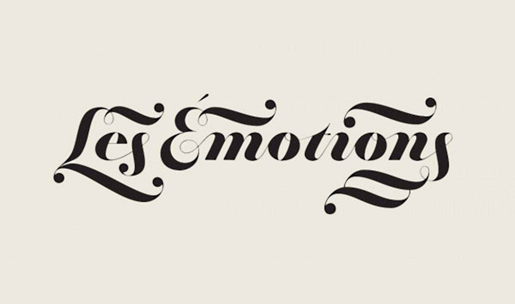 Black text ' Les Emotions' Featured image for blog 'Packaging Design, Let's Get Emotional'