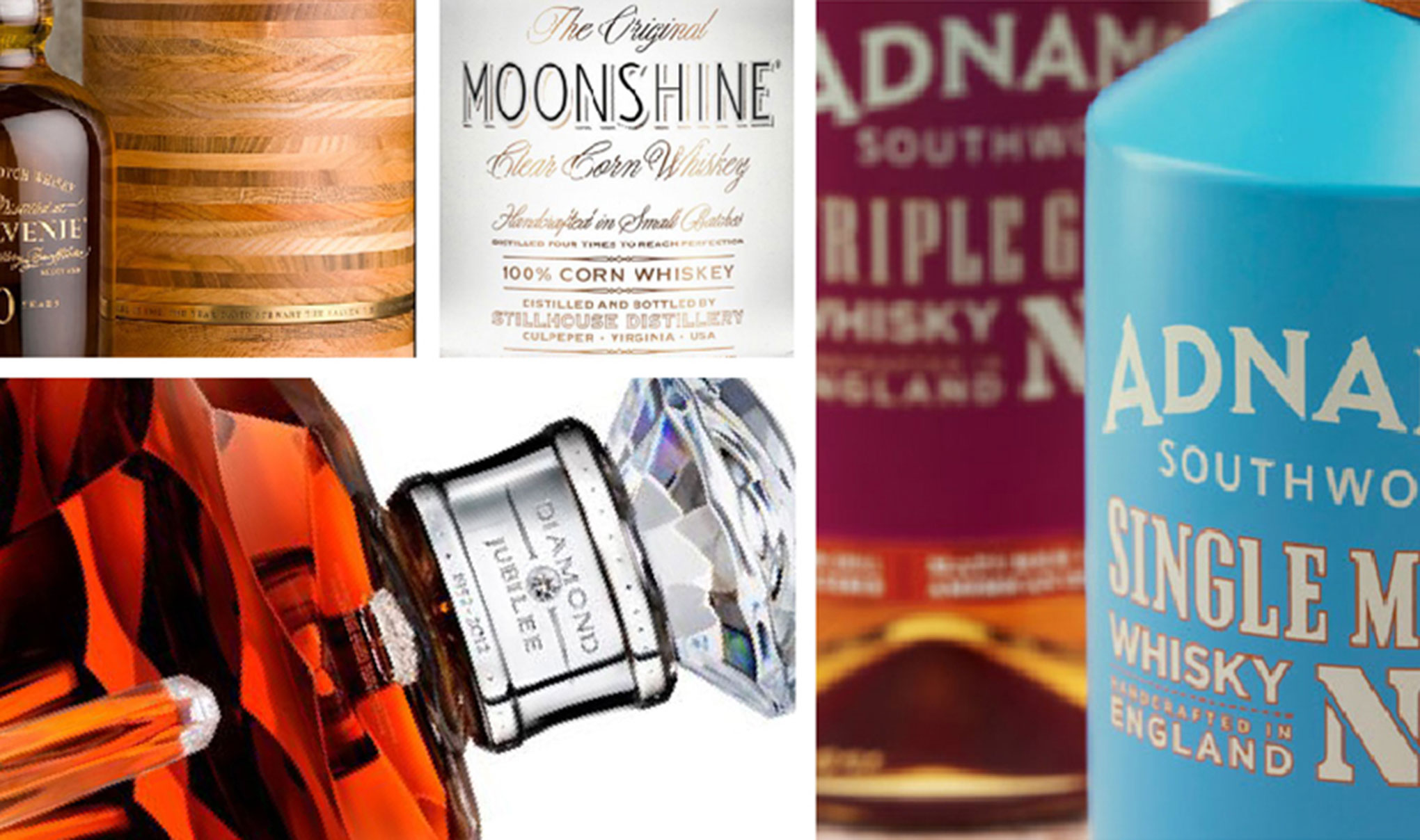 Branding & packaging designs for Whiskey packaging. Featured image for blog 'The Changing Face of Whiskey Packaging…'