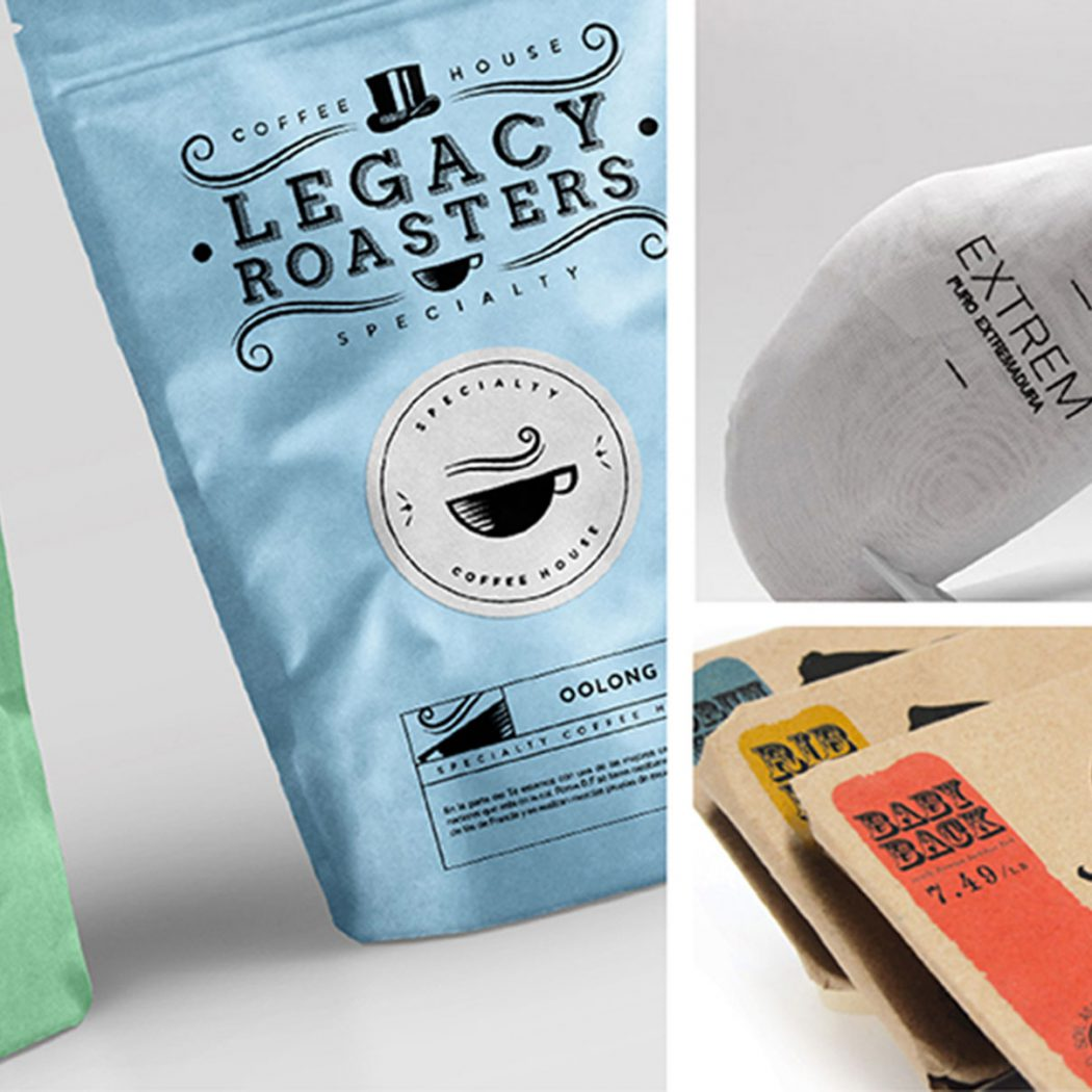 Branding & packaging designs for food packaging. Featured image for blog 'Food Packaging Design Inspiration'