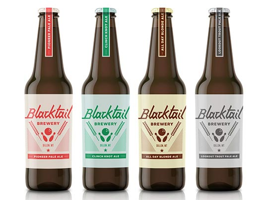 Craft Beer Packaging Design for Blacktail Brewery