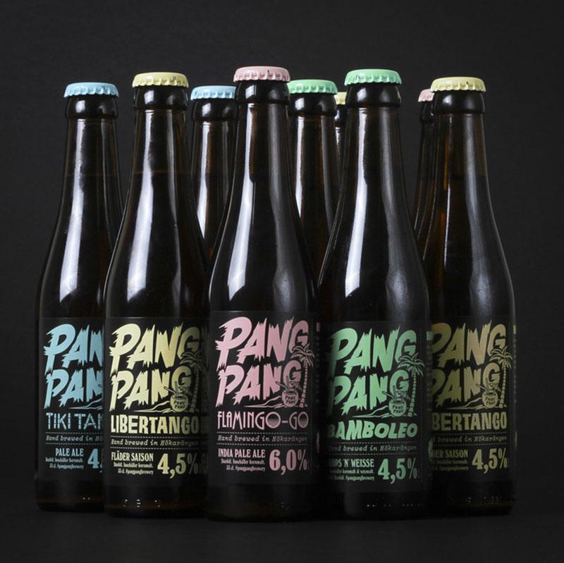 Craft Beer label desPangPang Brewery Beer Label Packaging Design