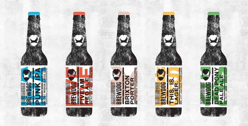 Craft Beer Packaging Design for Brew Dog Brewery