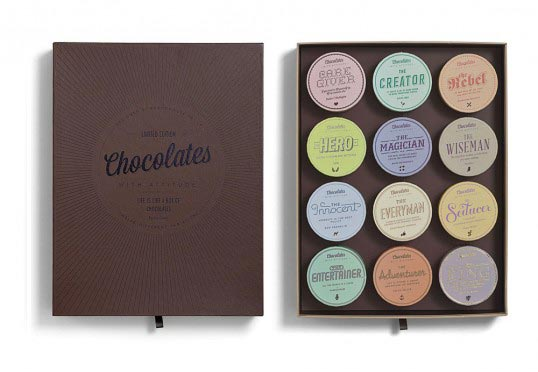 A Chocolate Box Packaging with a Difference! Chocolates with Attitude.