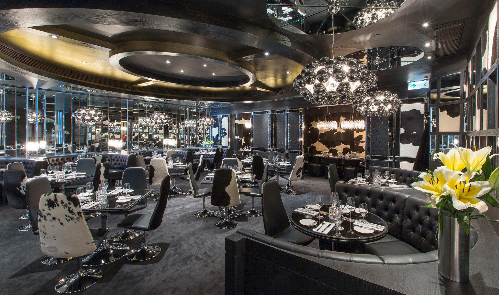 Inside of Gaucho restaurant.