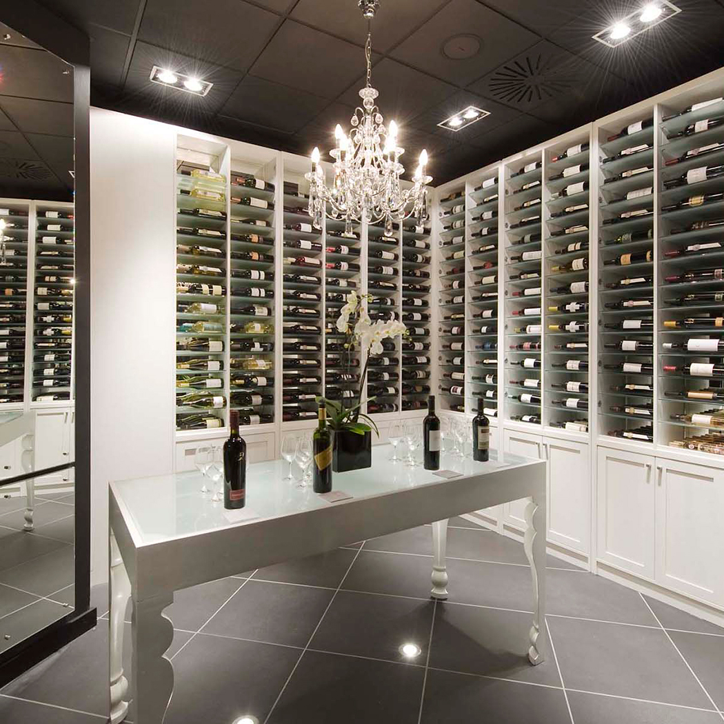 Wine room at Gaucho Restaurant.