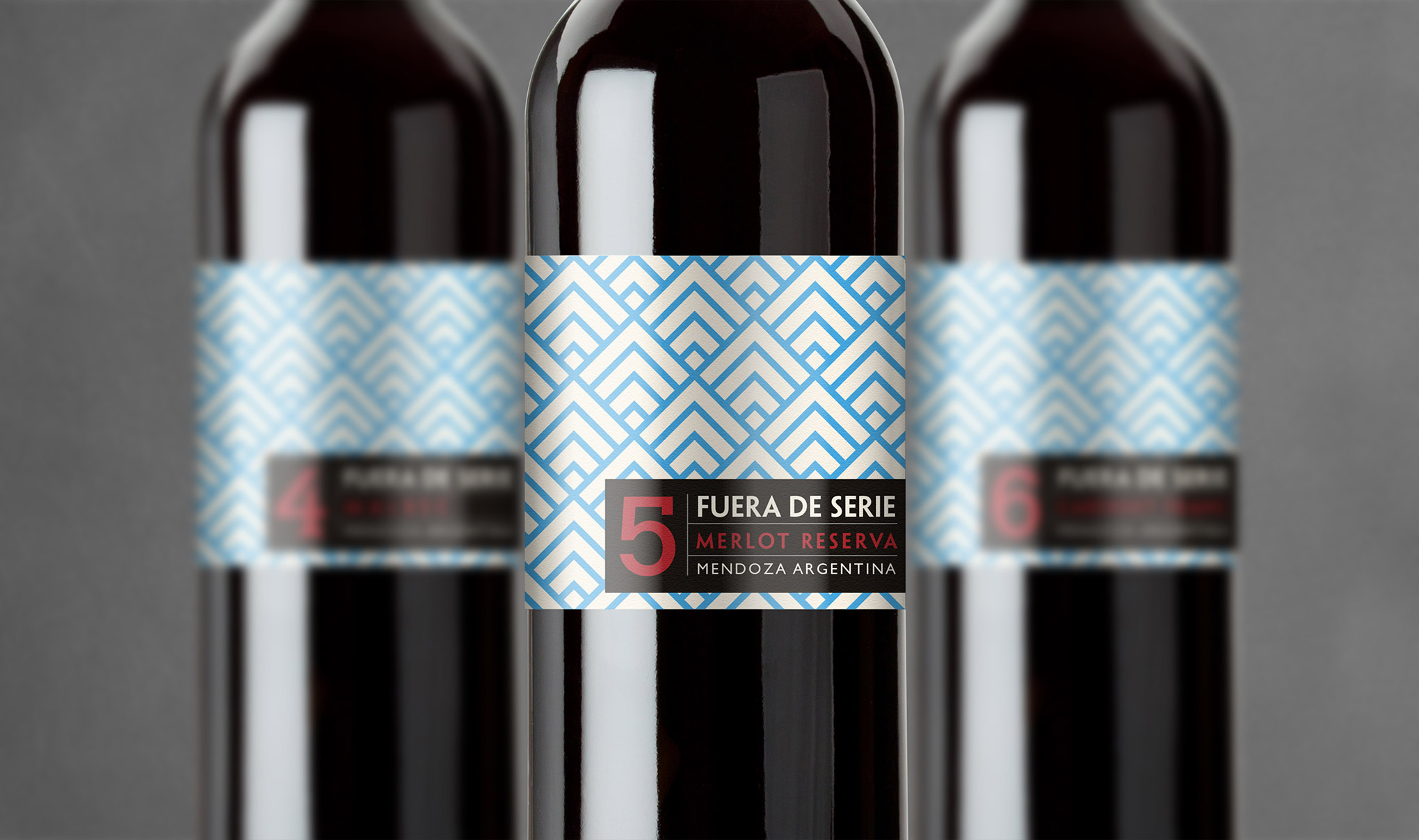 Wine label design for Fuera De Serie wine. Designed for Gaucho restaurants by creative agency, Flipflop Design Ltd.