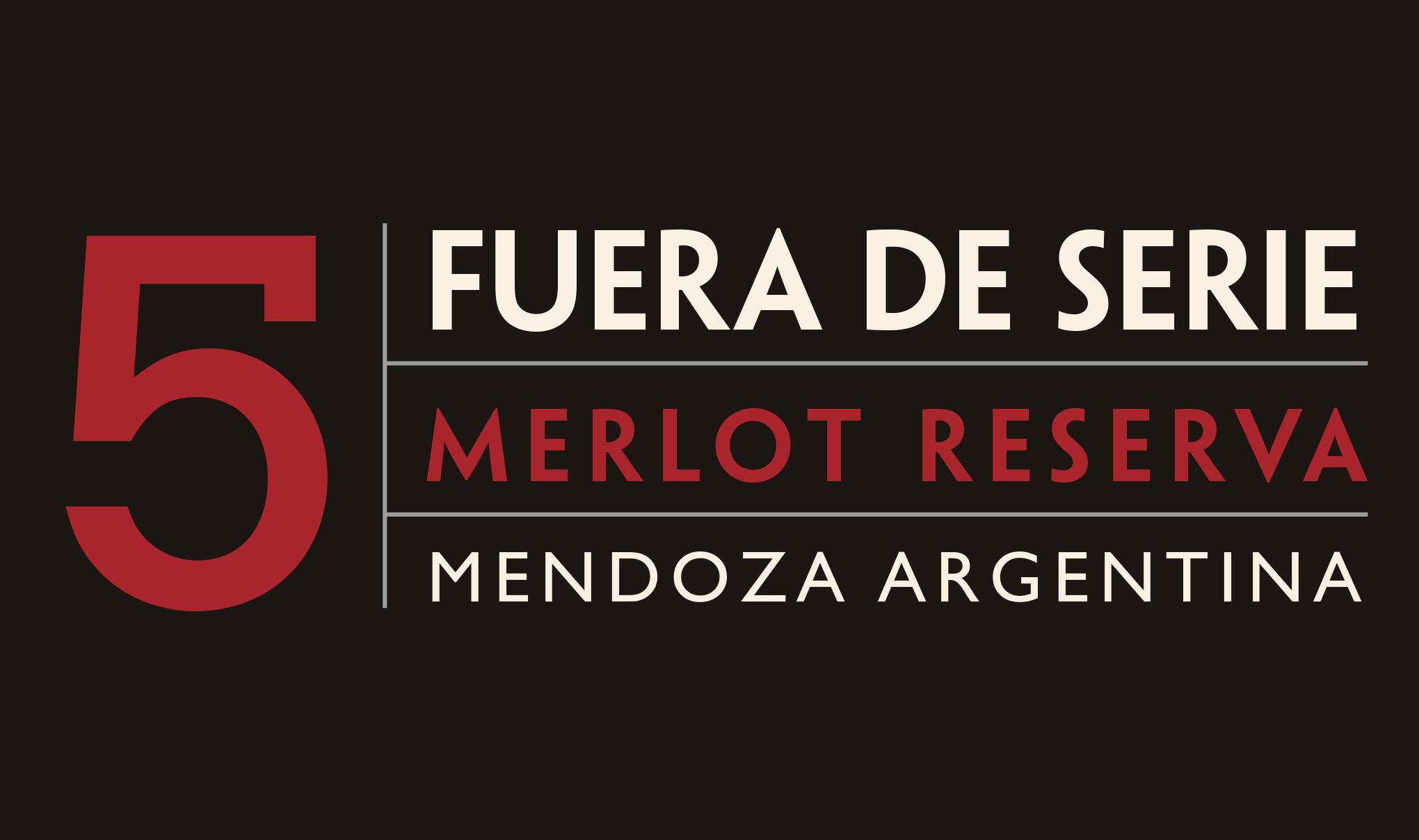 Fuera De Serie wine label tab - Merlot Reserva