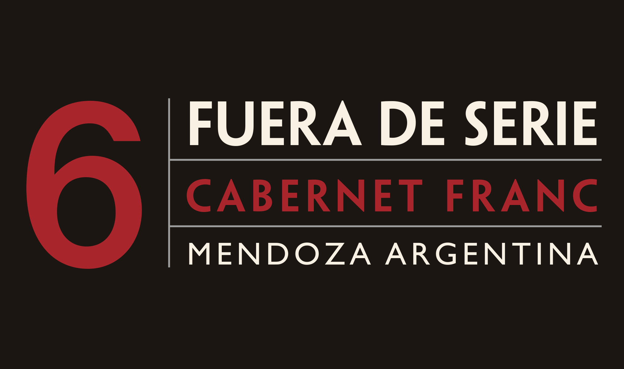 Fuera De Serie wine label tab - Cabernet Franc