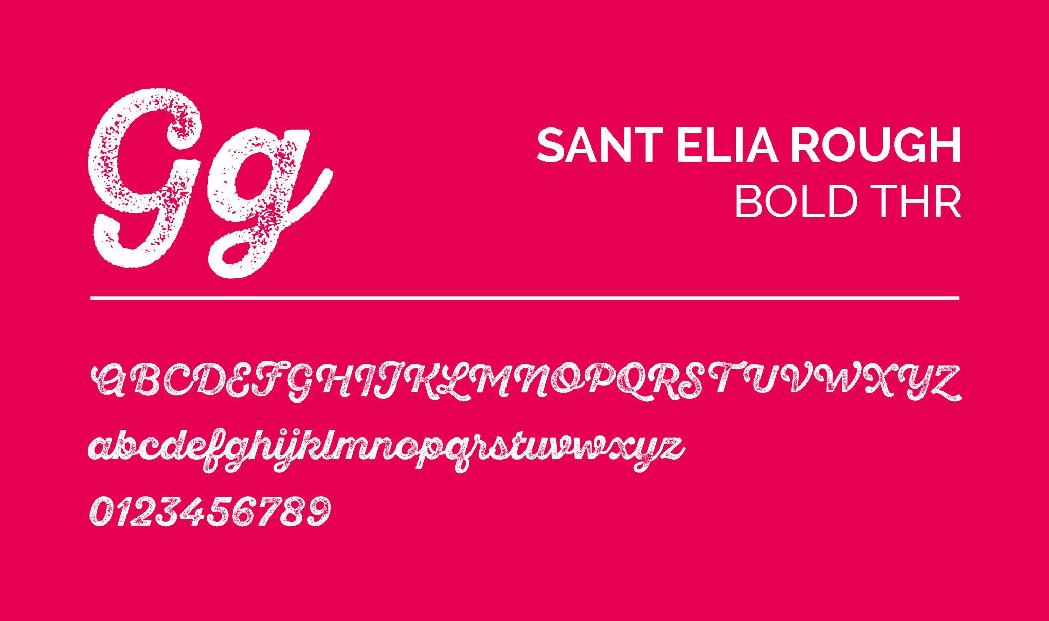 SANT ELIA ROUGH - Bold Thr. Font layout.