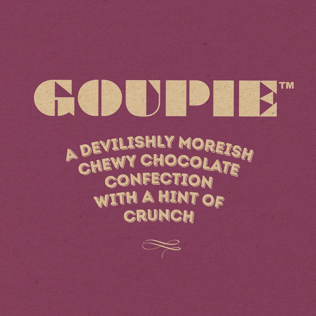 Branding for Goupie Chocolates.