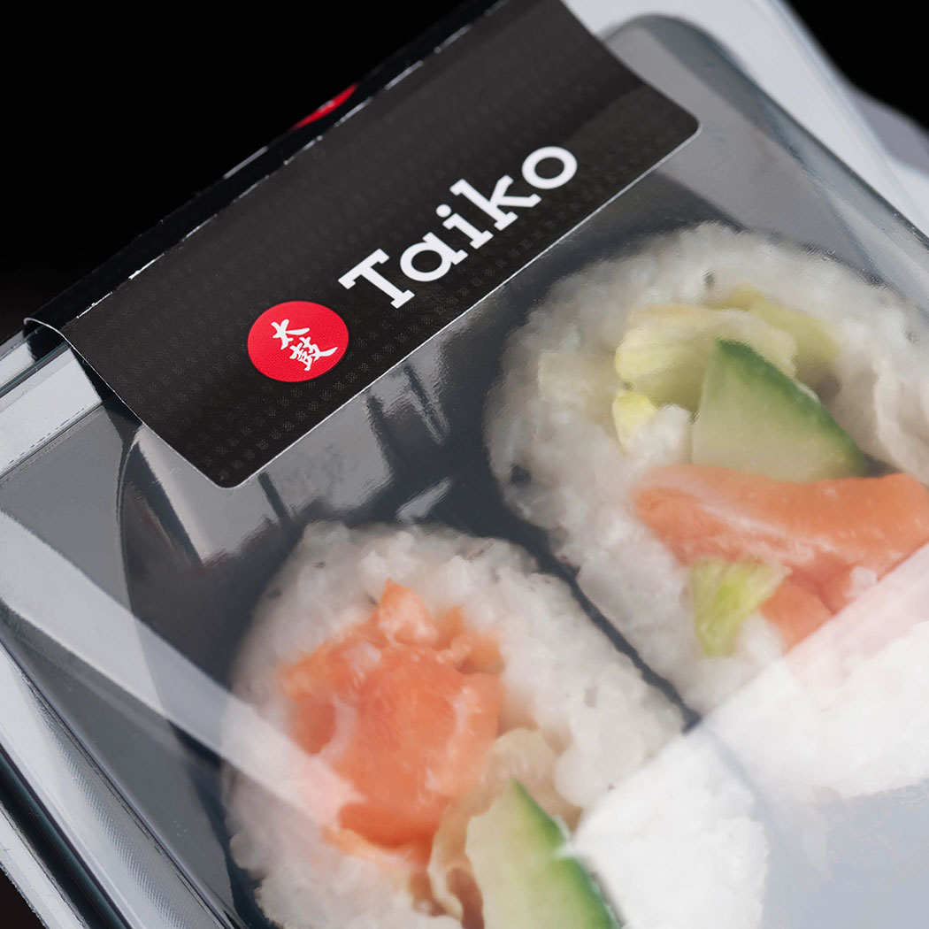 Macro shot of Sushi Food Package Design. Creative food design agency - Flipflop Design.