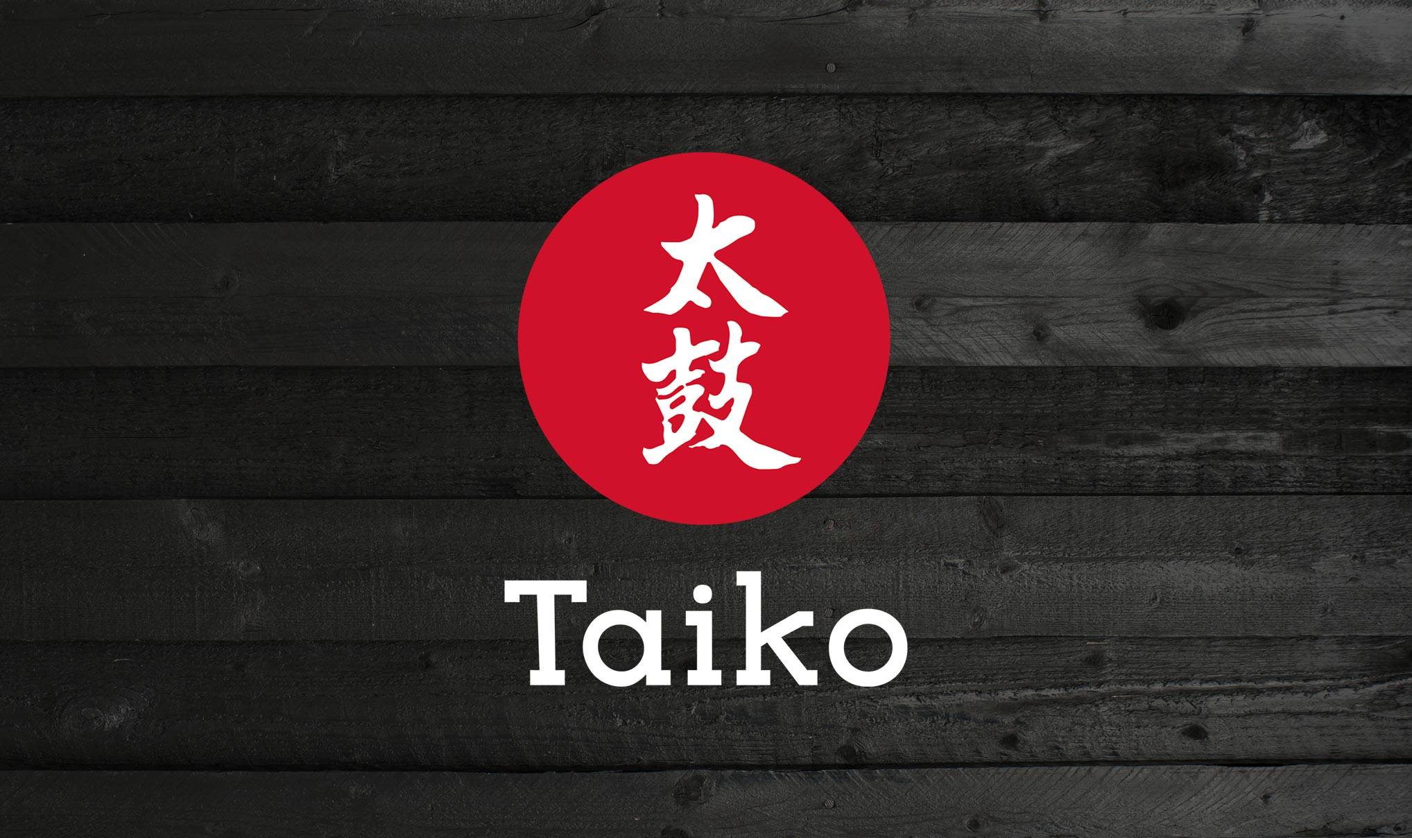 Taiko Foods Brand Logo. Food brand design and food package design agency - Flipflop Design.