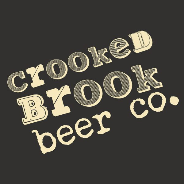 Craft beer Branding for Crooked Brook Beer Co. Designed by packaging design agency - Flipflop Design.