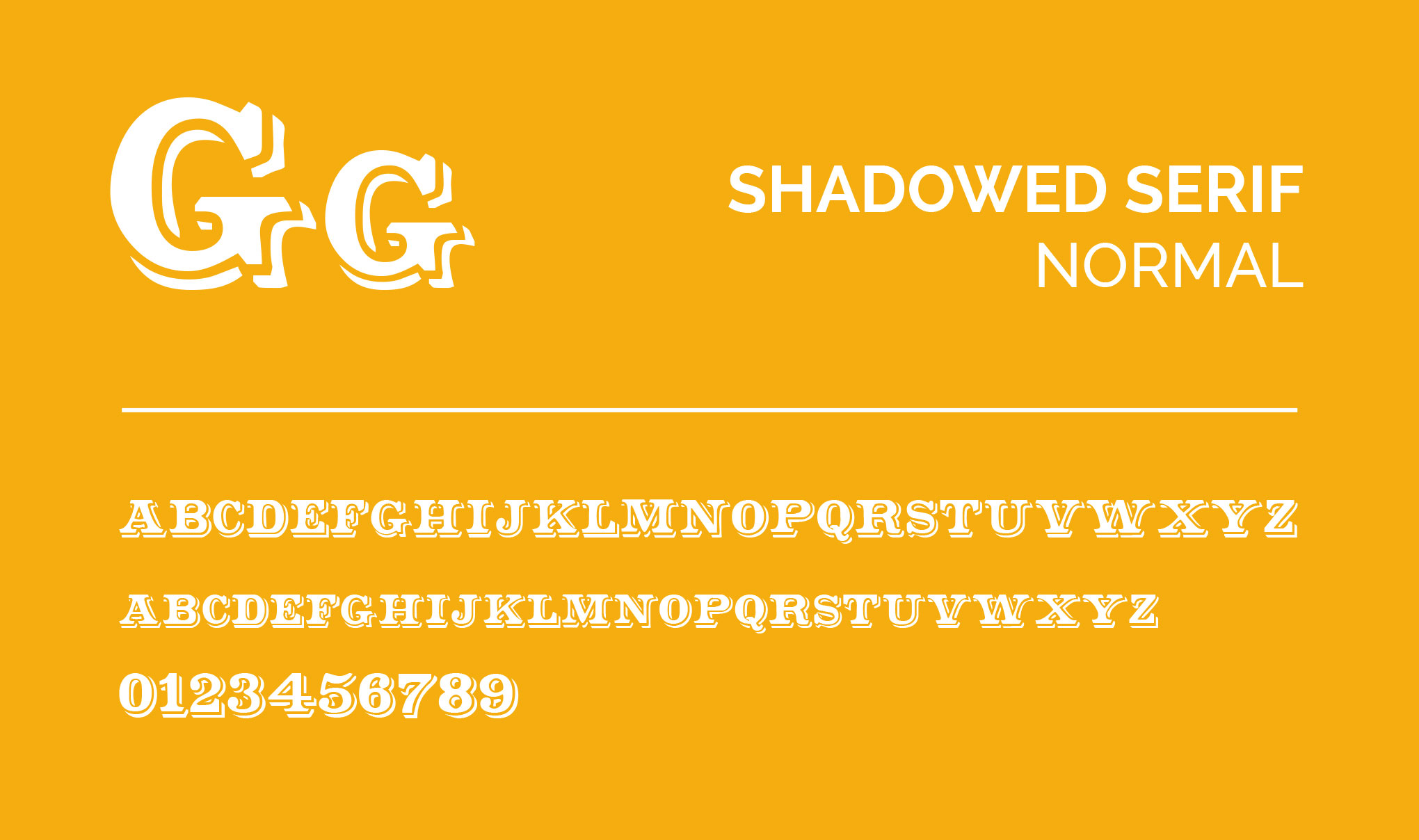 SHADOWED SERIF Normal Font