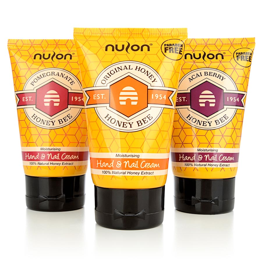 3 tubes for Nulon Honey Bee. Packaging design company - Flipflop Design