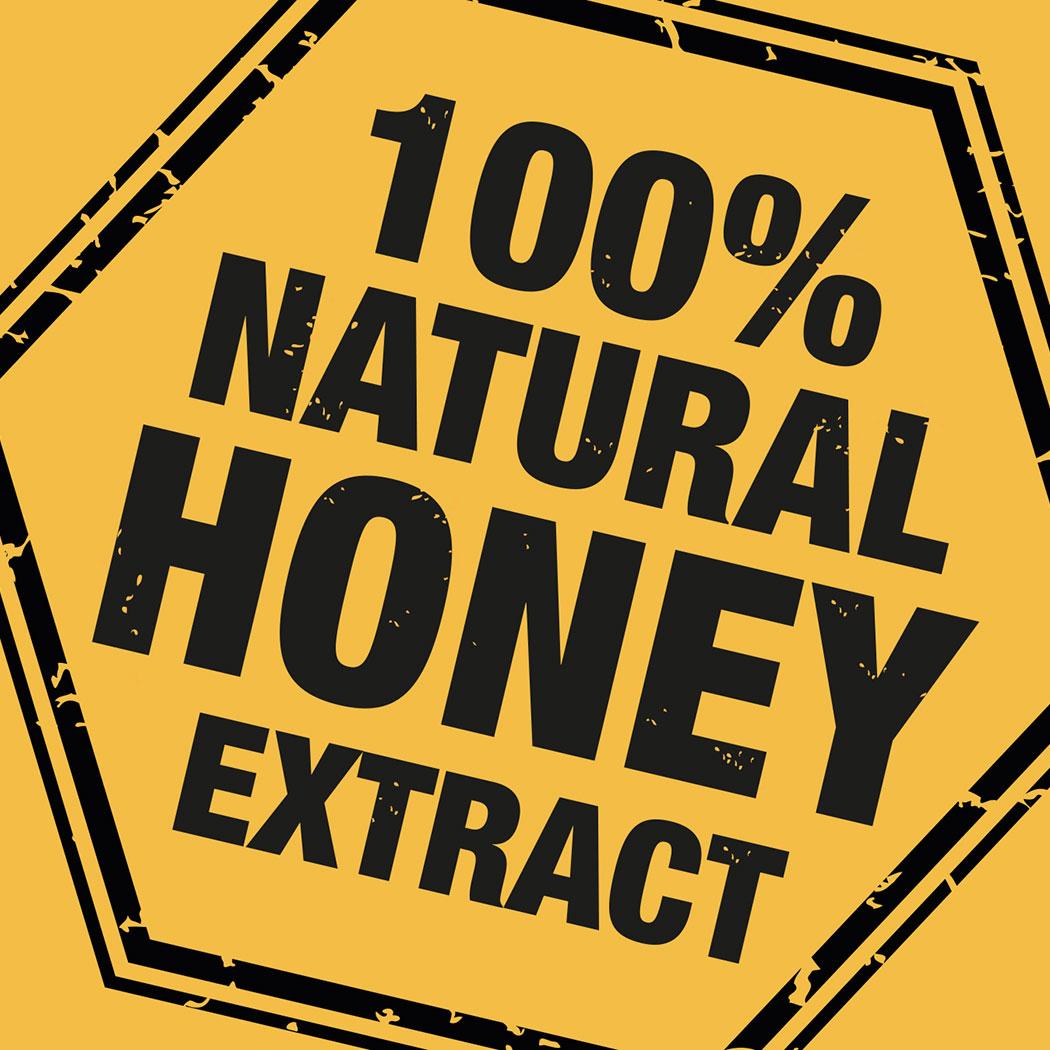 Brand asset for 'Honey Bee' beauty range. Designed for Amber House by packaging design agency - Flipflop Design Ltd.