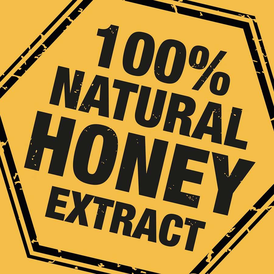 Nulon Honey Bee Brand asset '100% Natural'. Packaging design company - Flipflop Design